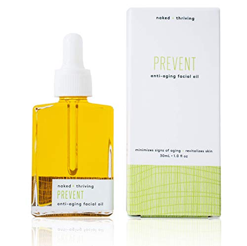 Naked Thriving Prevent Anti-Aging Facial Oil – Organic, Vegan, All-Natural Skin Care Face Oil 1.0 oz 30 mL