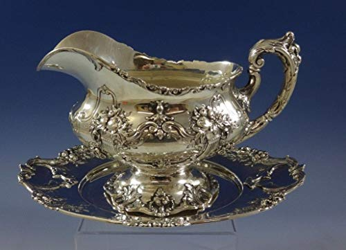 Francis I by Reed & Barton Sterling Silver Gravy Boat with Underplate (#0954) ()