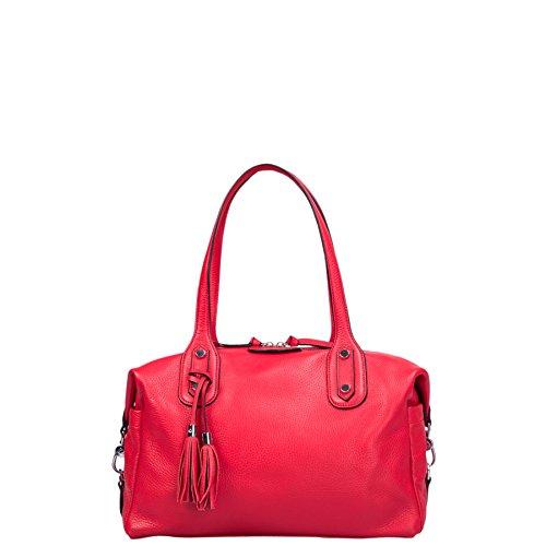Grainée De Vachette Kesslord Rouge R Shopping Cabas Sacs amp; Nc Cuir En Foulonne Helena wqnPA6S