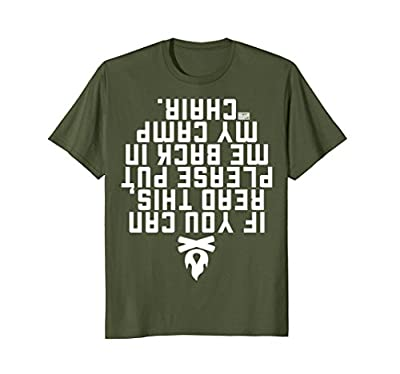 Funny If You Can Read This Put Me Back Camp Camping T-shirt