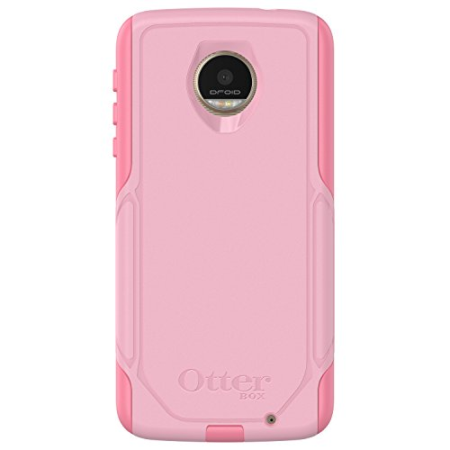 OtterBox Commuter Series Case for Motorola Moto Z Droid Edition (ONLY) - Frustration Free Packaging - Bubblegum Way (Bubblegum Pink/Seashell Pink)