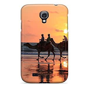 RPAWBMH2985oLwBi Case Cover Protector For Galaxy S4 Sunset Camel Rides Broome Western Australia Case