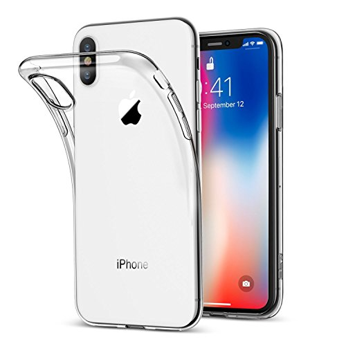 Clear Case iPhone X, iPhone 10 Clear Case for Apple [Shockproof Hybrid Gel Case](Clear) TPU Transparent Scratch Resistant Protective Cover [Slim Fit] [Wireless Charging] 5.8″ (2017 Release) Review