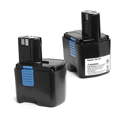 2 x ExpertPower 18V 3.0 Ah / 3000mAh NiMh Extended Battery for Hitachi EB1830H EB1820 323902 EB1830HL, tool for C18DL C18DMR DS18DL