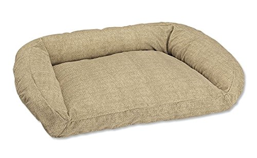 Orvis Toughchew Bolster Dog Bed Cover/X-Large, Herringbone, X Large