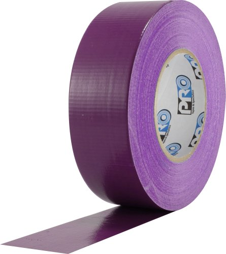 "ProTapes Pro Duct 120 PE-Coated Cloth Premium Industrial Grade Duct Tape, 60 yds Length x 2"" Width, Purple (Pack of 1)"
