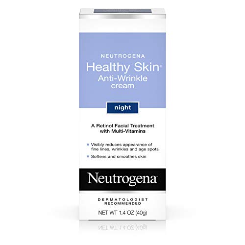 Neutrogena Healthy Skin Anti Wrinkle Retinol Cream with Vitamin E and Vitamin B5 - Night Moisturizer with Retinol, Vitamin E, Vitamin B5, Glycerin, 1.4 oz