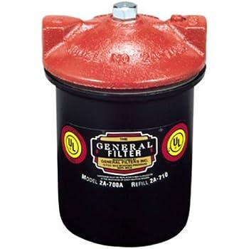Gneral Filter 2A-700B Galvanized Steel Fuel Oil Filter, 3/8