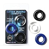 3-in-1 Three-color Flexible Soft Rubber Penis Rings Sex Toys for Men ( by champper )