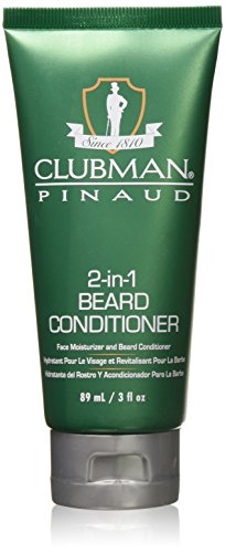 Clubman 2-in-1 Beard Conditioner and Face Moisturizer, 3 oz