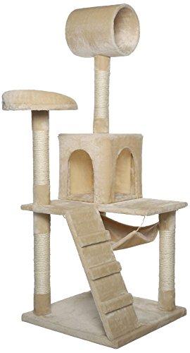 Dibea KB00350 Rascador para Gatos, 133 Cm, Árbol Escalador Arañar Juguete Beige: Amazon.es: Productos para mascotas