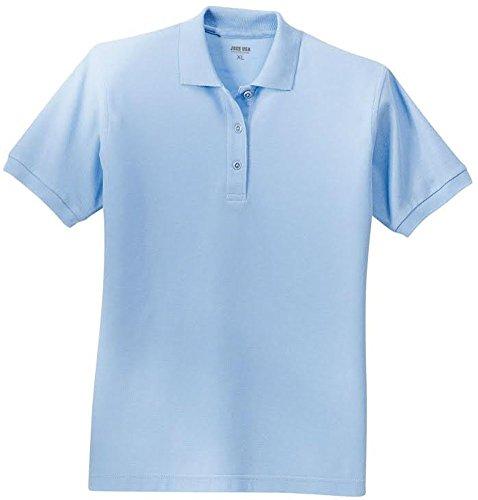 Joe's USA(tm) Ladies Short Sleeve Polo Shirt-Light (Blue Ladies Polo Shirt)