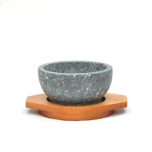 石焼きビビンバ鍋12cm木台付セット【本場韓国長水石】