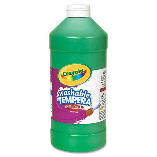 Crayola Green Washable Tempera Paint, 32- Ounce