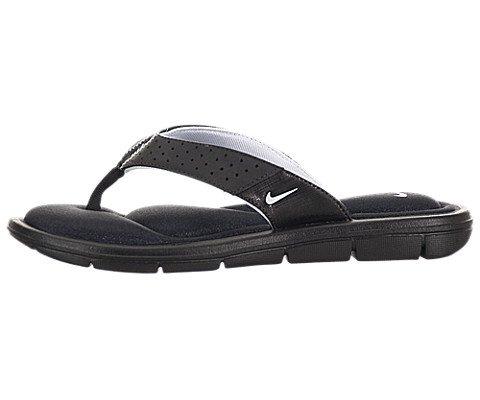 Nike Womens Comfort Thong Sandal (7, Black/White)