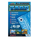 All-Purpose Weather and Tear Resistant Blue Tarp 8' x 10'