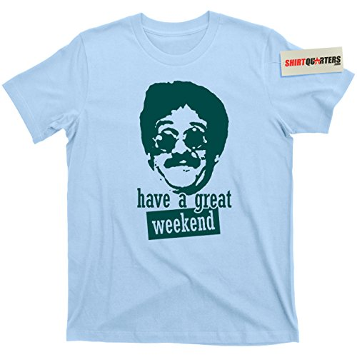 Weekend at Bernie's II 2 Do The Bernie Lomax Party 80s Tee T Shirt (Bernie Light Blue, Large)