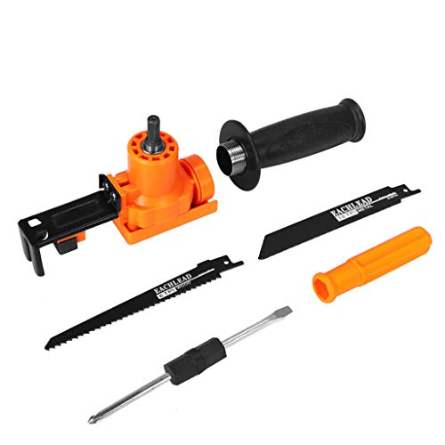 Kit Monroe Adapter - Lemoning❤ Reciprocating Saw Attachment Adapter Change Electric Drill for Wood Metal Cuttin Black