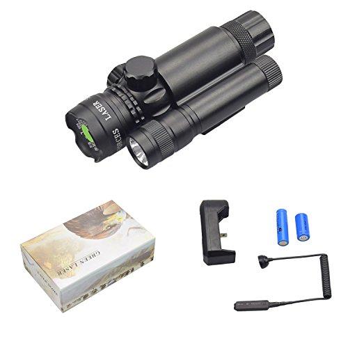 Fyland Green Laser Sight/ LED Strob Flashlight Combo with Bu