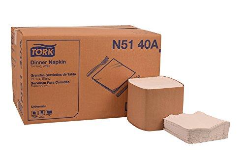 (Tork N5140A Universal Dinner Napkin, 1/4 Fold, 1-Ply, 17.0