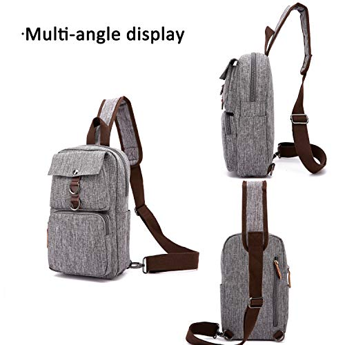 Bag Crossbody Chest Gray Riding Commuter Outdoor Travel Waterproof Shoulder Fandare Business Polyester Camping Men Sling Sport Gym H5q5wOC