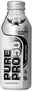 American Body Building Pure Pro 50, Cookies & Cream, 14.5-Ounce Bottles (Pack of 12)