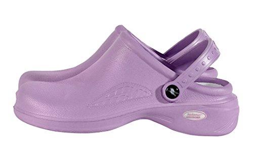 M&M SCRUBS - Womens Lightweight Nurse Shoes / Nursing Clogs Lilac piXxjt