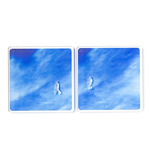 re,play A Piece of Sky - Cup Coaster Blue for Drinks Cafe Table Decor Couple Gift 4 inch -