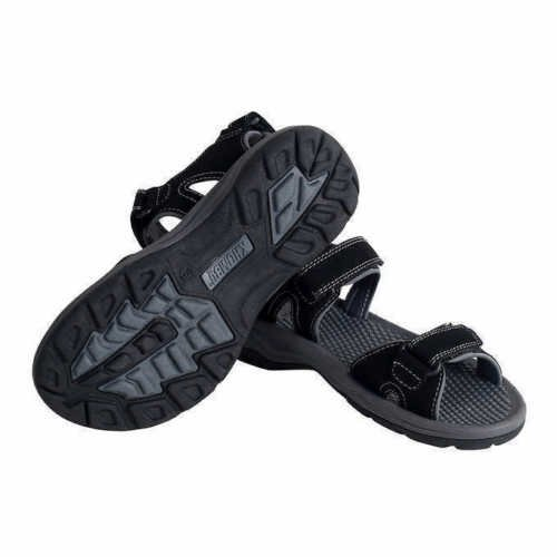 Khombu Ladies' River Sandals for Women - Walking Hiking Casual Summer Shoes (7, Black)