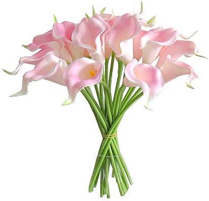 Fake Lily Silk Foral Plant Stem Home Wedding Flower Arrangment Decor Drak Pink