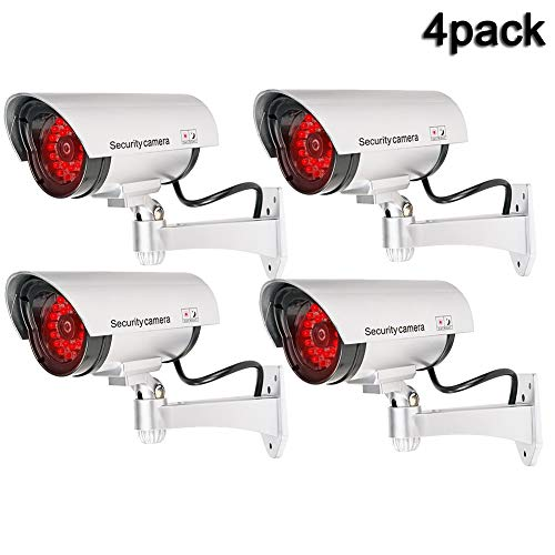 QLPP Fake Security Camera,CCTV Fake Dome Camera,Dummy Fake Security Camera,with 30 Illuminating LEDs, for House, Shopping Mall, Restaurant,4pack by QLPP (Image #7)