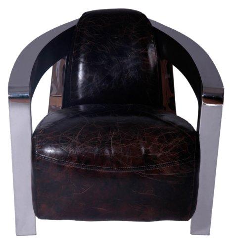 Diseño-sillones Mars cromo y vintage-cuero: Amazon.es: Hogar