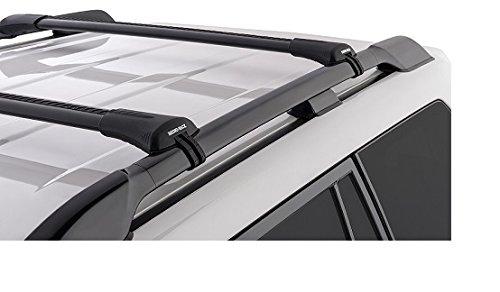 Rhinoラック2001 – 2017 qx80 Infiniti 4dr SUV with屋根レール渦ステルスバー屋根ラックFits Raised工場サイドレールブラックja7984 B01BXC0X3W