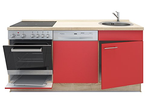 Miniküche mit Geschirrspüler, Spüle, Ofen, Kochfeld, Arbeitsplatte ... | {Miniküche mit backofen und geschirrspüler10}