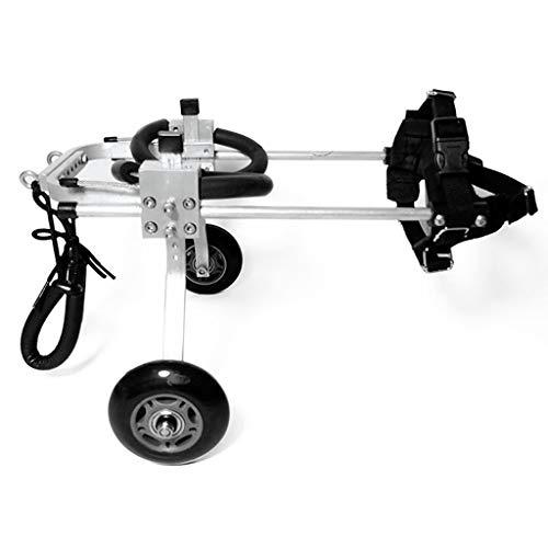 Dog wheelchair Rueda para silla de ruedas para perros - Para perros pequeños de 2 a 5 kg - Aprobado por veterinarios - Silla de ruedas para patas traseras ...