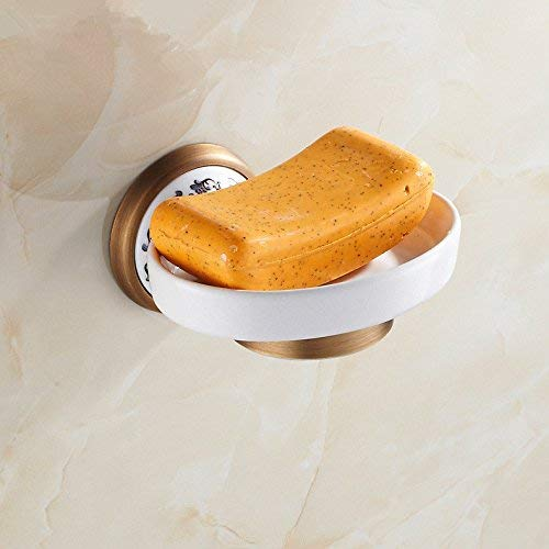 Brass Accents European Soap Dish - Ligsruise Antique Ceramic SOAP Dish Brass European-Style SOAP Dish European-Style Toilet SOAP