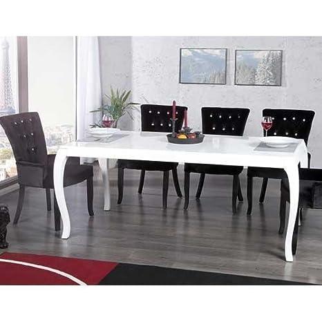 Tavoli Da Pranzo In Stile.Unbekannt Tavolo Da Pranzo Palais Stile Barocco Bianco Lucido 180