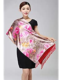 nwn Gift Box Scarf Female Winter New Brushed Double Shawl Silk Scarf Warm Gift (Color : B)