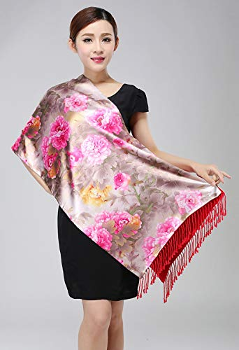 (JUN Gift Box Scarf Female Winter New Brushed Double Shawl Silk Scarf Warm Gift (Color : B))