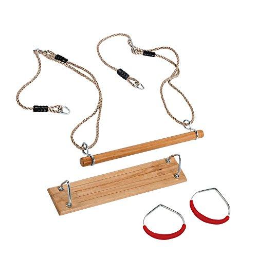 Turngeräte-Set bestehend aus Schaukel, Trapez und Turnringen für Kinder