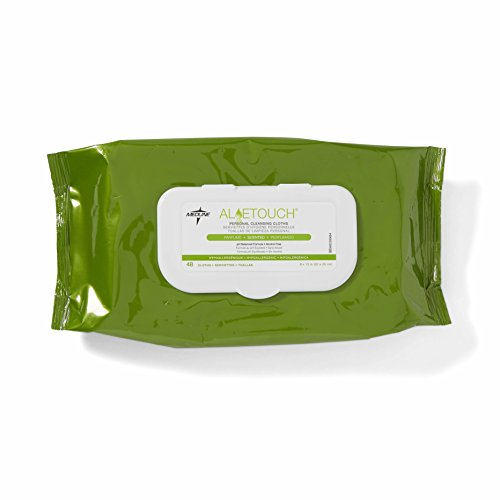 Medline Aloetouch Cleansing Wipes 12