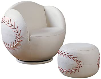 Excellent Acme 05528 2 Piece All Star Set Chair And Ottoman Baseball Bralicious Painted Fabric Chair Ideas Braliciousco