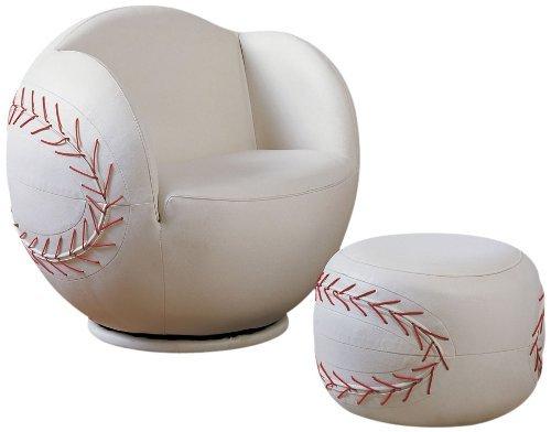 (acme 05528 2-Piece All Star Set Chair and Ottoman, Baseball )