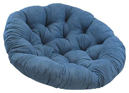 Blazing Needles Solid Microsuede Papasan Chair Cushion, 48 x 6 x 48 , Aqua Blue