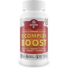 Vitamin B12 Sublingual -- B Complex Energy Pill B12 Methylcobalamin B6 Biotin & Folic Acid Natural Energy Supports Metabolism Heart Health & Stress Great Tasting Cherry Flavor! 100% Caffeine Free -