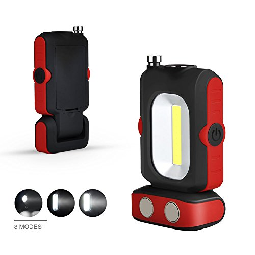 Working Lights, LED Check Lights, LED Bright flashlights, Magnetic Bases and Magnetic Stretchable Hooks.Emergency use of car Camping in Home workshops by DIFUL