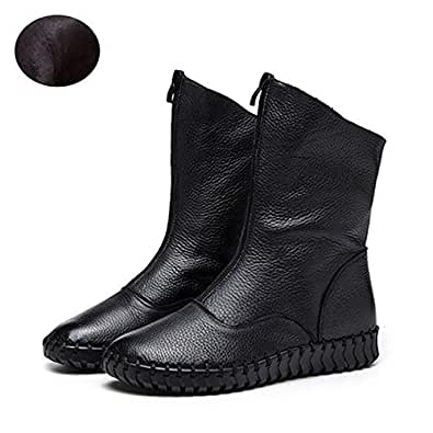 Amazon.com: Fumak Genuine Leather Women Ankle Boots Soft