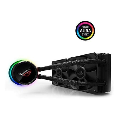 chollos oferta descuentos barato ASUS ROG RYUO 240 Sistema de refrigeración líquida de CPU con OLED de Color Aura Sync RGB Tubo de Goma Reforzado de 38 cm Ventiladores optimizados