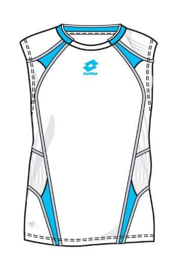 Lotto Camiseta SL Shock, Hombre, White/Arroyo: Amazon.es: Deportes y aire libre