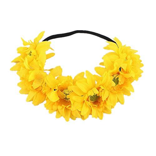 Sunmoot Halloween Flower headband yak horn tiara hoop